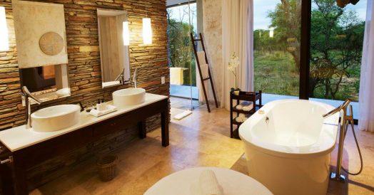 Banheiro do Kapama Southern Camp