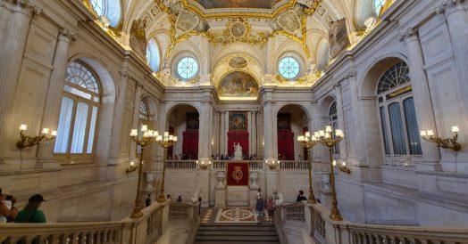 Entrada do Palácio Real de Madrid