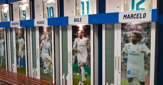 Vestiário do estádio Santiago Bernabéu