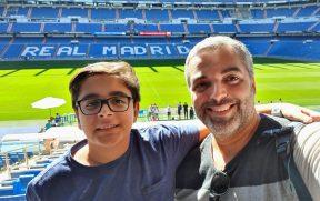 Estádio Santiago Bernabéu em Madrid