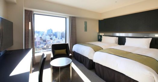 Quarto do Hotel Richmond em Asakusa