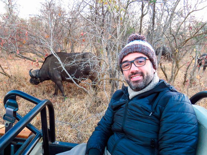 Selfie em Safari África do Sul