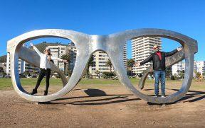 Casal no Mandela Glasses em Cape Town