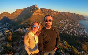 Selfie perfeita no alto da Lion's Head em Cape Town