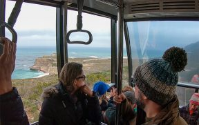Subindo no Funicular de Cape Point