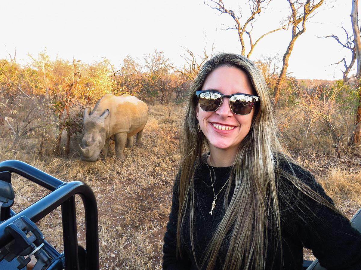 Selfie com o Rinoceronte na Reserva do Kapama