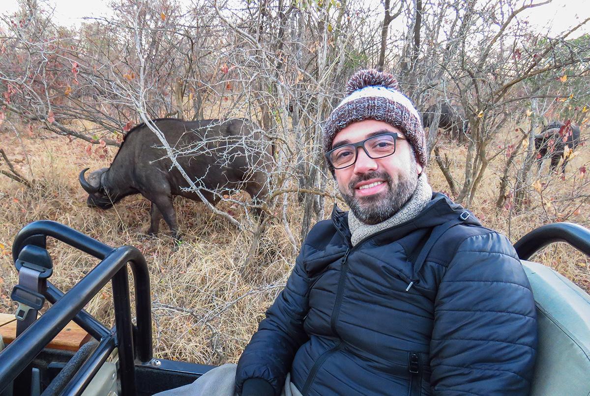 Selfie com uma Manada de Búfalos no Kapama