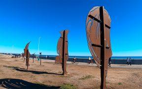Peças da escultura de Rinoceronte