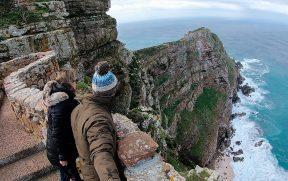 Penhascos enormes em Cape Point