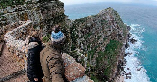 Penhascos enormes próximos as Cabo da Boa Esperança