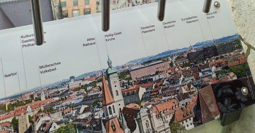 Roteiro Munique: Placa com os pontos turísticos