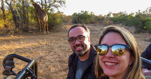 Selfie com a Girafa no Kapama