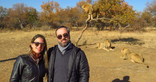 Selfie com Leões no Ukutula