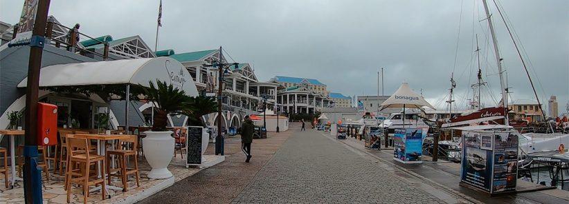 V&A em Cape Town num Dia de Chuva