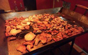Carnes do jantar tipico alemão
