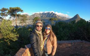 Casal em Signal Hill em Cape Town