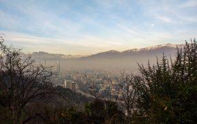 Cordilheira vista do Cerro San Cristobal