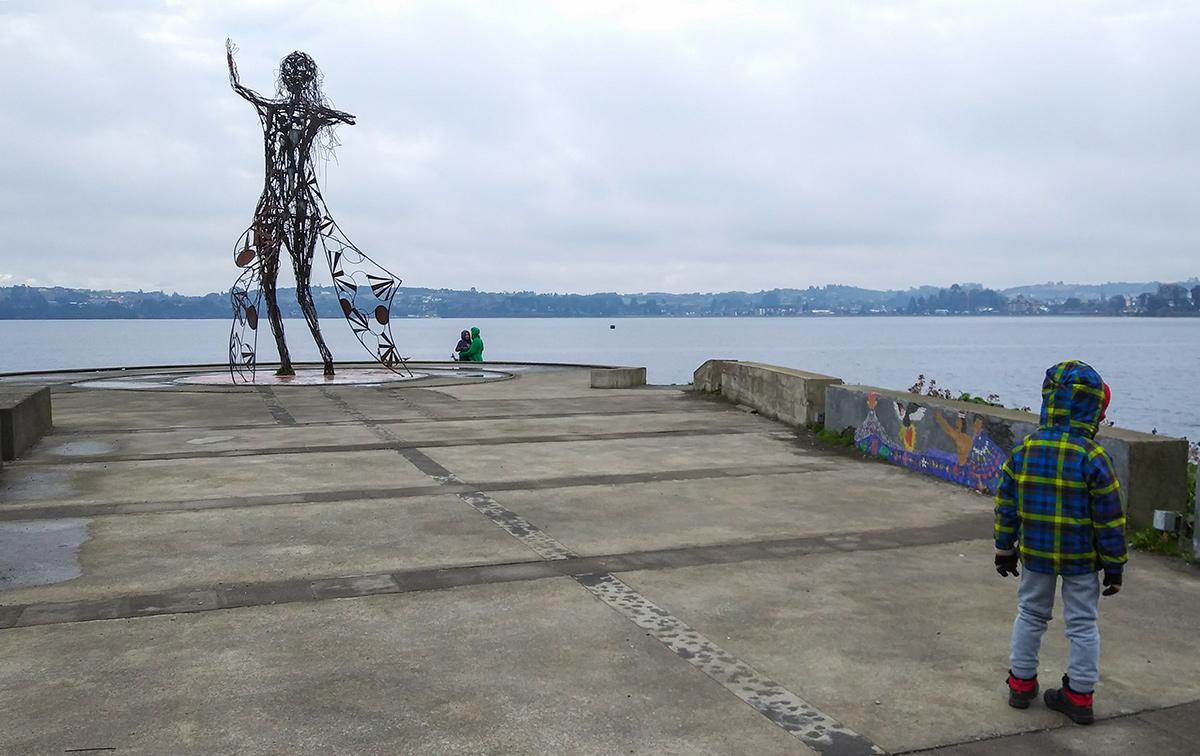 Estátua de ferro em La Puntilla
