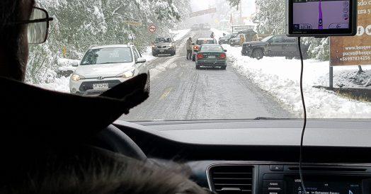 Road trip Chile: Dirigindo na neve em Pucón