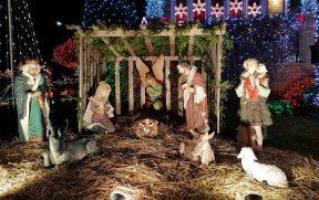 Detalhe da decoração de Natal no Dycker Heights