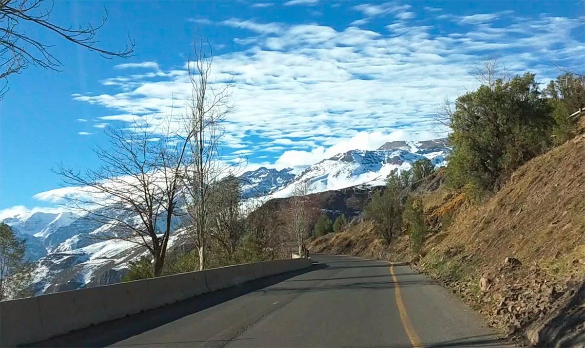 Estrada para Farellones
