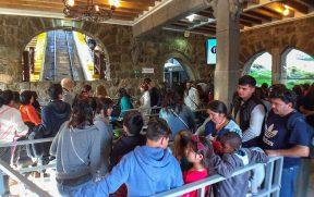 Subida do funicular para o Cerro San Cristobal