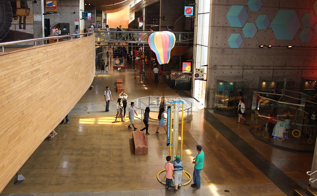 Interior do Museo Interactivo Mirador