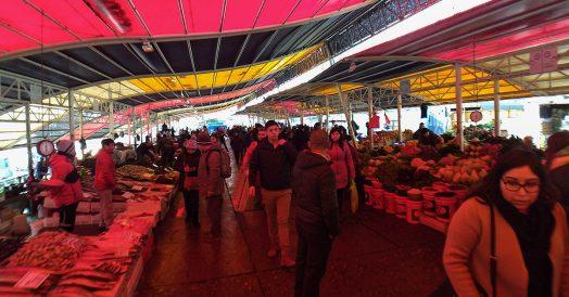 Mercado Fluvial em Valdivia no Chile