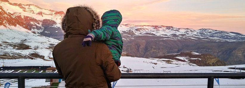 Pai e Filho em Farellones durante roteiro em Santiago