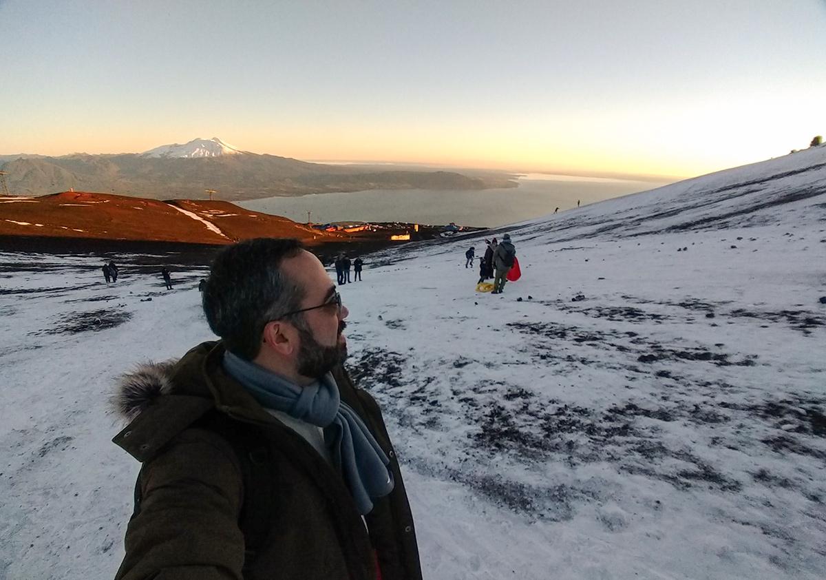 Self no alto do vulcão Osorno
