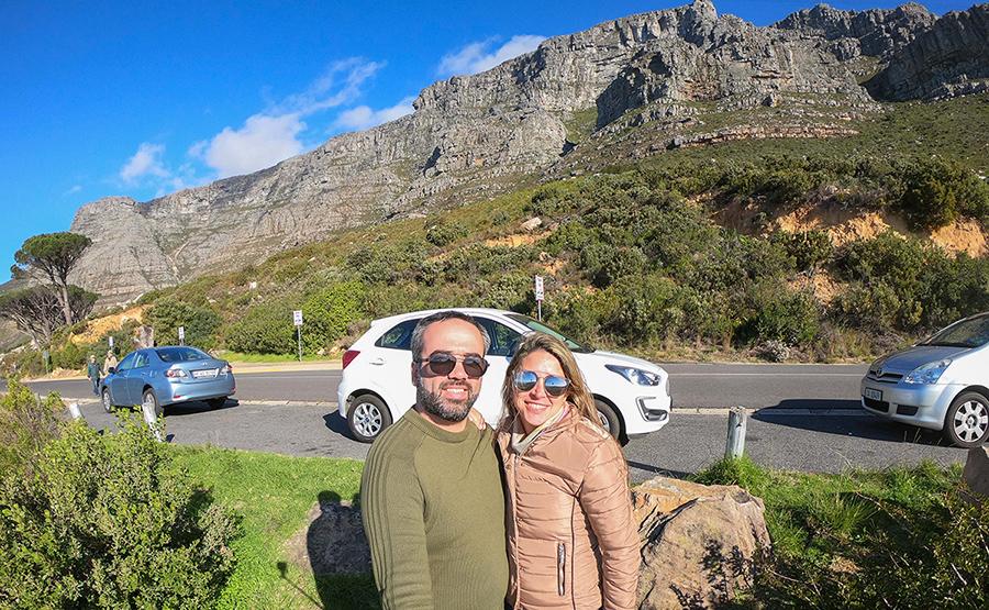 Selfie com a Table Mountain ao fundo