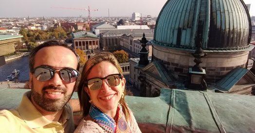 Selfie de casal no topo da Berliner Dom