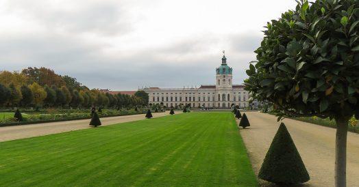 Belos jardins do Palácio de Charlottenburg