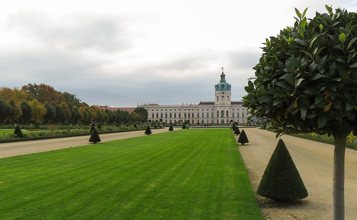 Belos jardins do Palácio de Charlottenburg