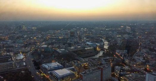 Pôr do Sol visto da Berliner Fernsehturm