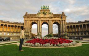 Triumphal Arch no Parc du Cinquantenaire
