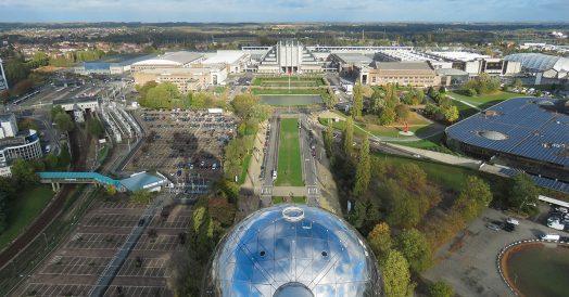 Vista do Atomium