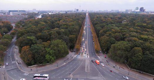 Tiergarten visto do alto da Coluna da Vitória
