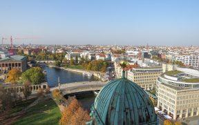 Rio Spree visto do topo da Berliner Dom